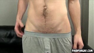 Straight amateur hunk gives a blowjob for some money